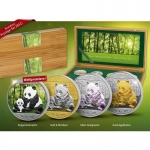 4 x Silver Chinese Panda 2012 Silver Investment Coin...