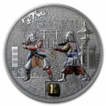 2015 Cook Islands Proof Silver $5 History of the Samurai