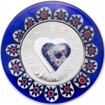 5 $ 2016 Cook Islands Silber - Proof Murrine Millefiori...