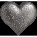 2018 Cook Islands 1 Oz Silver Precious Heart Heart Shape...