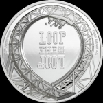 5 $ 2021 Cook Islands - 1 Oz Silber Loop the Loop Proof