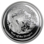2012 Australia 5 oz Silver Year of the Dragon (SII) Proof...