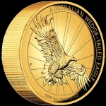 5 Unzen Gold Wedge Tailed Eagle High Relief 2019 Australien 500 AUD Proof