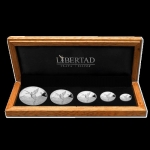 5 Coin set  Silver Mexico Libertad 1,9  Oz 2019  Proof