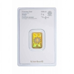 5 gram Heraeus Gold KineBar (embossed) .9999 Fine (In Assay)