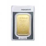 50 gram Heraeus Gold Bar (embossed) .9999 Fine (In Assay)