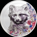2020 Mongolia 1 oz Silver Woodland Spirits High Relief...