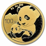 8 g Gold Panda Brilliant Uncirculated 2019
