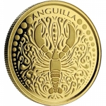Anguilla, 10 Dollar, Lobster (1) EC8 1 Unze Gold, 1 oz BU...