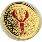 Anguilla, 10 Dollar, Lobster EC8 1 Unze Gold, 1 oz 2018 Proof farbig