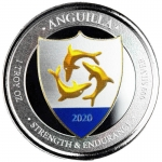 2020 Anguilla 1 oz Silver Coat of Arms (3) EC8 Proof...