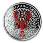 2018 Anguilla 1 oz Silver Lobster EC8 coloured Proof