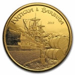 2018 Antigua & Barbuda 1 oz Gold Rum Runner (1)  BU
