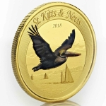 2018 St. Kitts and Nevis 1 oz Gold Pelican (1) (Colorized)