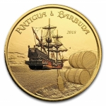 Antigua und Barbuda, 10 Dollar, Rum Runner 1 Unze Gold, 1...