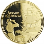 2019 Antigua & Barbuda 1 oz Gold Rum Runner (2)  BU