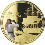 2019 Antigua & Barbuda 1 oz Gold Rum Runner (2) Proof...