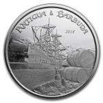 2018 Antigua & Barbuda 1 oz Silver Rum Runner (1) BU