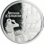 2019 Antigua & Barbuda 1 oz Silver Rum Runner (2) BU