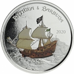 2020 Antigua & Barbuda 1 oz Silver Rum Runner (3)...