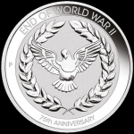 2020 10 Cents End of WWII 75th Anniversary  1/10oz Silver...