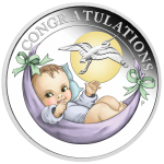 2020 50c Newborn Baby 1/2oz Silver Proof