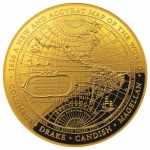 2018 $100 1626 A New Map of the World Terestial Dome 1oz...