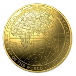 2018 $100 1812 A New Map of the World Terestial Dome 1oz...