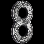 Australia 2019 $2 Figure Eight - Koi- 2 Oz - Figure Eight...