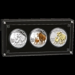 2021 3 Coin Set 3 x $1 Lunar Year of the Ox Lunar III...