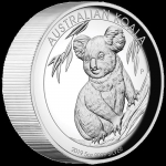 Australien 5 Unzen Silber Koala High Relief 2019 Proof