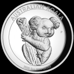 Australien 5 Unzen Silber Koala High Relief 2020 Proof