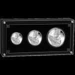 Australien Proof 3 Coin Set Silber Maus 2020 Lunar III 1 Oz 2 Oz 1/2 Oz Mouse Proof PP