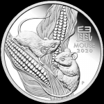 1 oz Silver Proof Australian Lunar Year of the Mouse Coin...