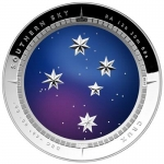 2012 $5 Southern Skies Crux Curved Colour 1oz Silver Proof