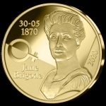 Belgium 12,5 Euro Gold  Jane Brigode 2020 Proof