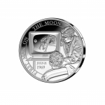 Belgium 5 Euro Moonlanding First Human on the Moon Silver...