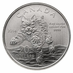 2014 $20 for $20 Lynx - Pure Silver Coin Canada