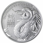 2013 $20 for $20 Lunar Year of the Snake - Pure Silver...