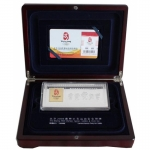 2008 China Bimetal Proof 100 g Silver and 3 g Gold...