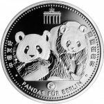 China Panda Silver Panda for Berlin 2017