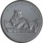 2010 Cook Islands 20 Oz Silver $20 Lunar Year of the...