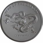 2012 Cook Islands 20 Oz Silver $20 Lunar Year of the...