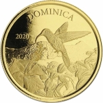 2019 Dominica 1 oz Gold Nature Isle  Parrot EC8 (2)