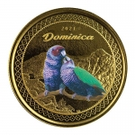 2020 Dominica 1 oz Gold Nature Isle Hummingbird EC8...