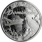 Dominica,  2 Dollar, 2019 Natur Insel Nature Isle EC8 (2)  Papagei Parrot Unze Silber, 1 oz BU