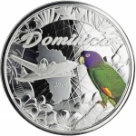Dominica,  2 Dollar, 2019 Natur Insel Nature Isle Papagei...
