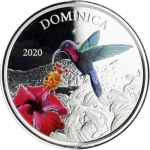2020 Dominica 1 oz Silver Nature Isle  EC8 (3)...