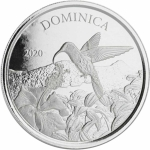 2020 Dominica 1 oz Silver Nature Isle (3)  Hummingbird EC8