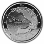 2018 Dominica 1 oz Silver Nature Isle  EC8